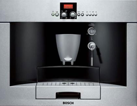 Coffee makers, green coffee makers, bosch coffee, green kitchen appliances, greener kitchens, green gadgets, green kitchen gadgets, eco-coffee