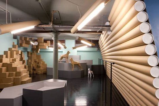 100 Recycled Cardboard Interior is Totally Tubular Inhabitat