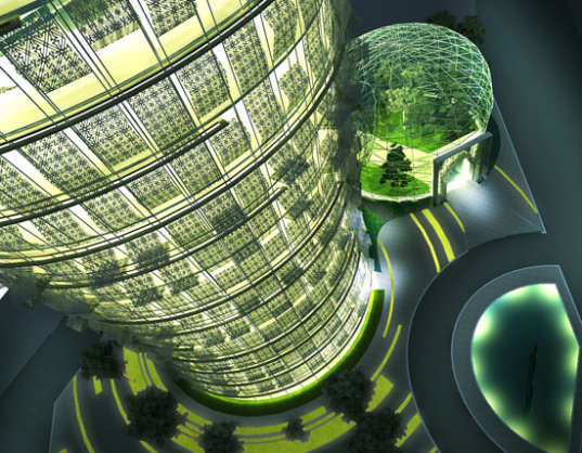 cactus skyscraper, desert architecture, sustainable architecture, green building, green design, quatar cactus building, aesthetics architects go group, minister of municipal affairs and agriculture, sun shades, biomimicry