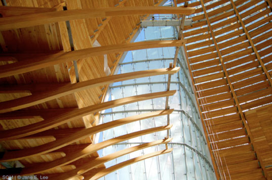 som cathedral, skidmore owings & merrill, sustainable cathedral, green cathedral, oakland cathedral, sustainable architecture, green building, fsc-certified wood, passive cooling system, fly ash concrete, daylighting