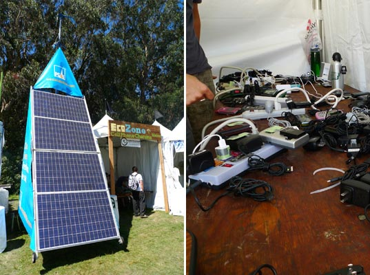 sustainable design, green design, event, music festival, outside lands, pg&e, solar powered stage, organic food, art, solar cell phone charger