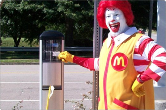 mcdonalds, ronald, chargepoint, ev