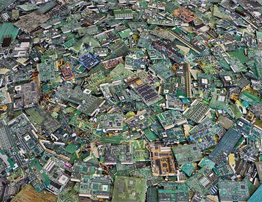Circuit boards by Chris Jordan