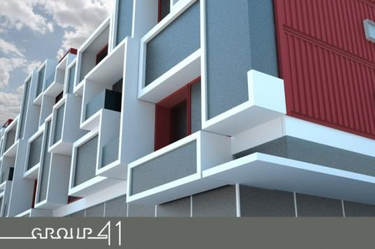 container nation, group 41 architecture, prefab housing, prefab multi family housing, container homes, shipping container architecture, multi family housing units, low impact living, prefabricated construction