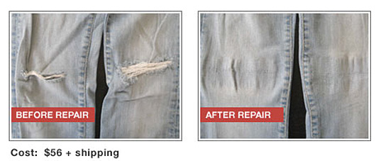 Denim Therapy: Knee hole fix
