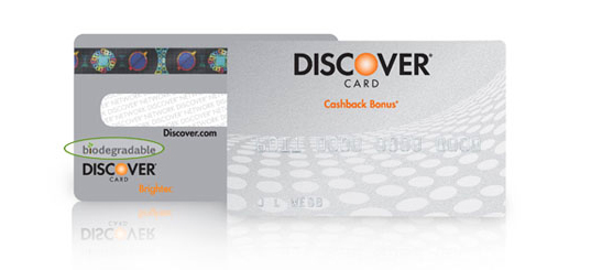 discover card, biodegradable credit card, sustainable materials, overconsumption, credit crisis, consumer culture, sustainable design, greenwashing, marketing