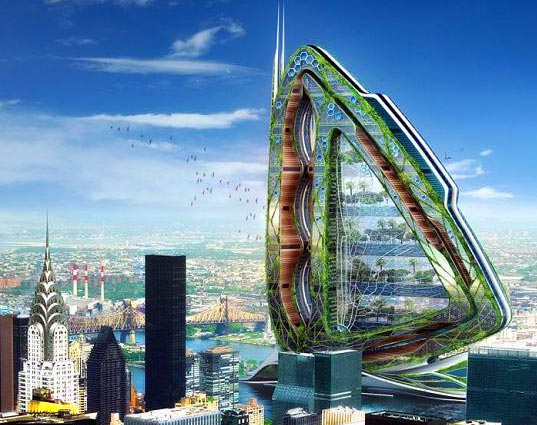 sustainable architecture, biomimicry, dragonfly vertical farm, Green Building, green design, self sufficient building, urban farm concept, vincent callebau