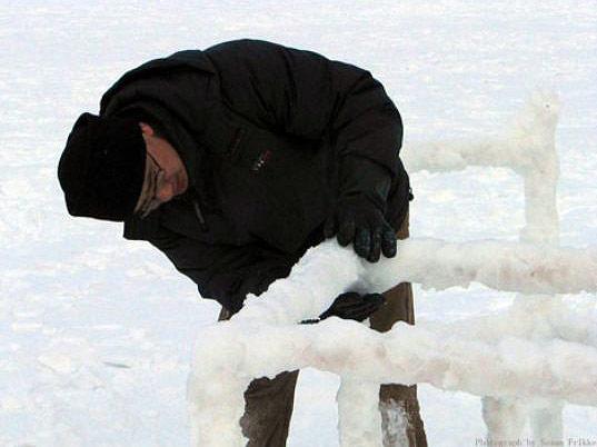 ECO ART: Cold House Ice Furniture
