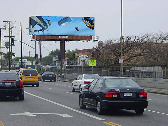 Recycled billboard vinyl becomes public art inhabitat for Salvaged building materials los angeles