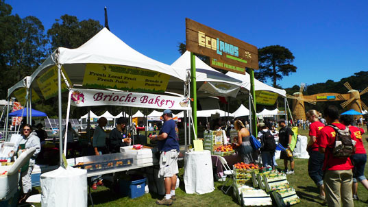 sustainable design, green design, event, music festival, outside lands, pg&e, solar powered stage, organic food, art, farmers market, ecolands