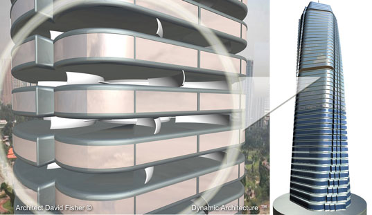 Rotating Tower Dubai, Twirling Tower Dubai, Dr David Fisher Dubai, David Fisher Dubai, David Fisher Rotating Tower, Dynamic Architecture, Dynamic Architecture Dubai, Dynamic Architecture Rotating Tower, energy positive tower Dubai, wind and solar energy, renewable energy tower Dubai, building integrated solar energy, building integrated wind energy, fisher4.jpg