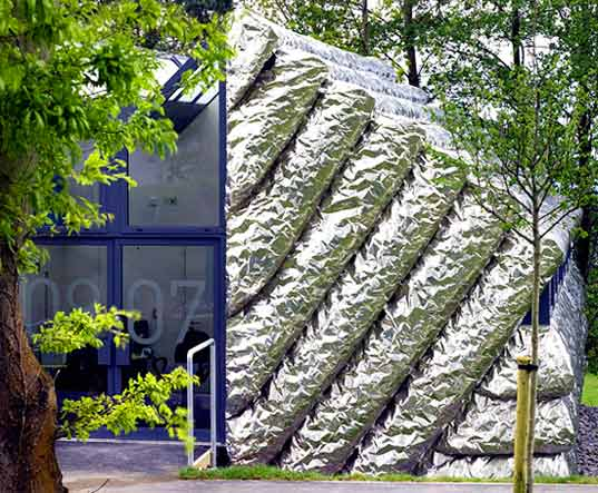 sustainable design, innovative architecture, green building, green architecture, Aberystwyth Arts Centre, wales, heatherwick studio