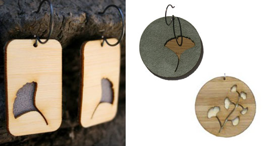 molly mcgrath, molly m designs, architecture jewelry, laser cut jewelry, bamboo jewelry, recycled materials jewelry, inhabitat gift guide for her