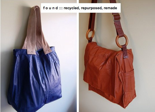 Recycled Leather Purses by FoundbyNicki on Etsy.com
