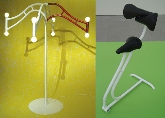 Recycled Bicycle Furniture By Frida, Recycled Bike Furniture