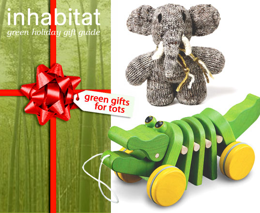Green Holiday Guide For Tots, Green Guide For Tots, Green gifts for kids, kid-friendly green gifts, Inhabitots