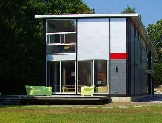 Goodwin Wise Flatpack House Flatpak Prefab Green Charles Lazor Architects Machusetts Amy