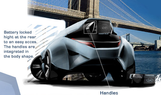 green apple, local motors, purify the wind, wind powered, battery powered, plug-in, concept vehicle