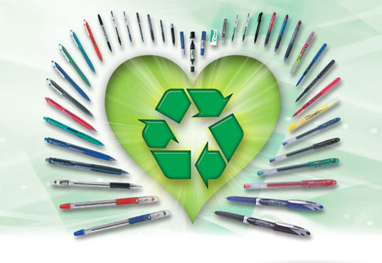 Sustainable School Supplies Green Pens Pencils Eco Recycled Paper Floppy Disk Office