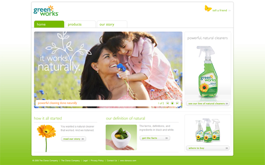 Natural Cleaning products, Clorox, Green Works