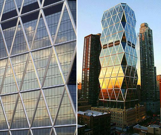 """https://www.inhabitat.com/wp-content/uploads/hearst21.jpg"""" alt=""""Hearst Corporation, Hearst Headquarters, Norman + Foster Partners, Sustainable Building, Green Highrise, New York Sustainable Building, Highrise Competition, Sustainable Skyscraper, LEED Gold"""