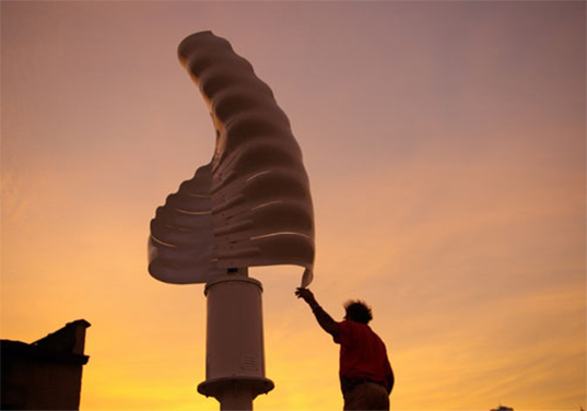 Helix Wind Turbine, Personal Wind Turbine, Residential Wind Turbine, Residential Wind Power, Helix Wind Savonious 2.0, Savonious, vertical turbine, helical turbine, renewable energy, wind energy, wind mill