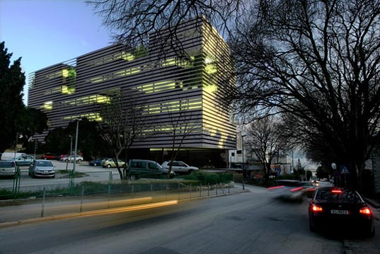 3hld architects, sustainable architecture, green design, green medical center, split croatia, daylight, natural light, sun screen, brise soleil, energy efficient architecture, green building