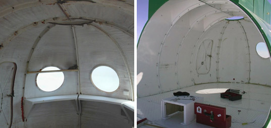 Prefabricated Igloo Satellite Cabin Withstands Extreme