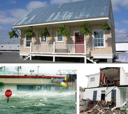 Hurricane Katrina, Disaster Relief, Katrina Cottage, Flood Resistant Housing,  Hurrican Resistant Housing