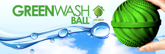 greenwashball, eco friendly laundry, laundry ball, detergent free laundry, greenwashing, green laundry product, soap free detergent