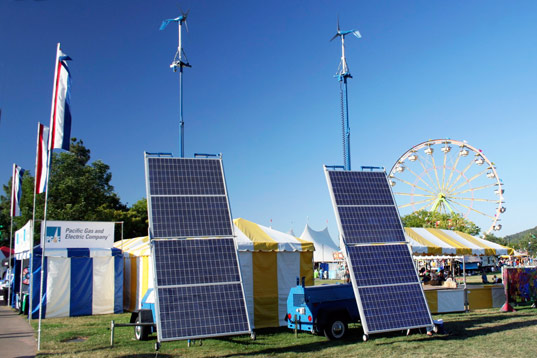 Renewable energy provided by PG&E