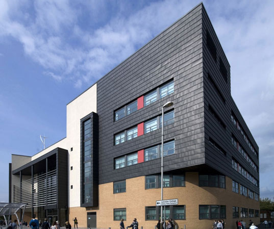 Leicester College Park Abbey Campus, Bond Bryan Architects, Sustainable Building, Part L Building Regulations, green architecture, wind turbine, energy efficient architecture, green design