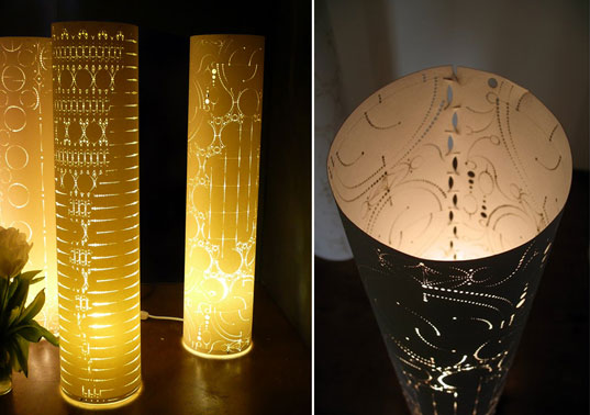 levent and romme designs, anne romme, fiyel levent, paper lamps, adhesive-free lamps, japanese design