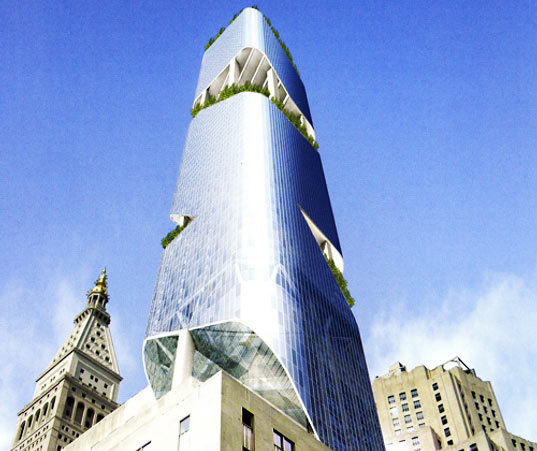 Daniel Libeskind S Soaring Green Garden Tower For Nyc