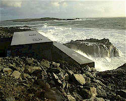 Electricity generated from wave power on the Scottish coast