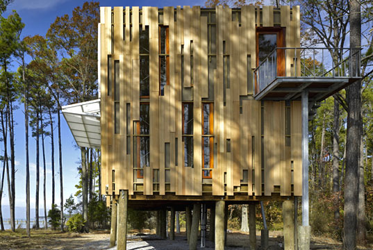 Loblolly House, Kieran Timberlake Associates, Inhabitat Prefab Friday, Chesapeake Bay, Maryland, component-based prefab, © Barry Halkin