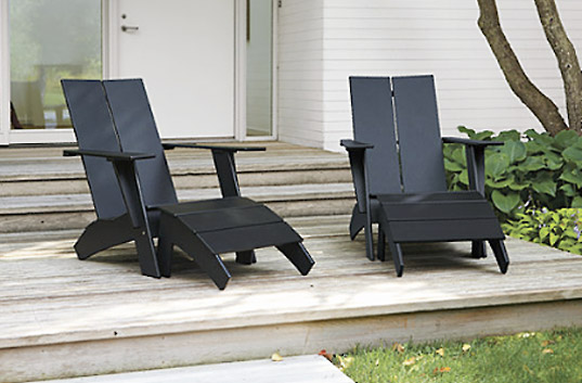 loll designs, sustainable design, green design, recycled materials, eco furnishings, adirondack chair, monterey collection, richlite