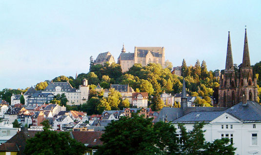 Marburg old town and castle