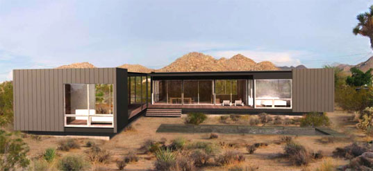 Marmol Radziner, Desert prefab, desert house, dwell on design conference, desert modernism, green desert modernism, LEED, Joshua Tree