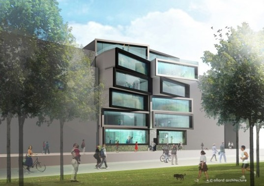 prefab office space. PREFAB: Playful Office Building Planned For Amsterdam. Architecture Prefab Space B