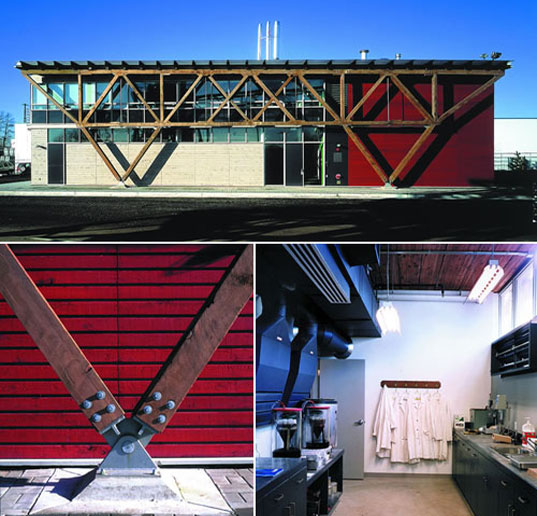 Materials testing facility, Ed Mazria, Photos courtesy Design Workshop Inc, Metropolis Magazine, Architecture 2030, AIA, Sustainable Architecture, Green Architecture, Environmental Architecture, Eco-friendly architecture, Energy Savings Buildings