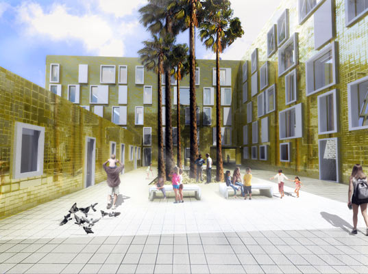 sustainable design, green architecture, mecanoo architecten, green building, sustainable architecture, social housing, malaga spain,