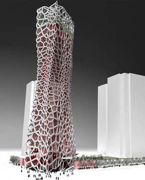 ... Architecture Firm Of MAD Won The Commission To Design This Elegant $120  Million Structure. Already Dubbed The U201cMarilyn Monroe Buildingu201d By The  Press, ...