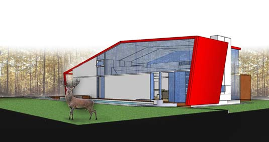 sustainable design, green architecture, modern american cabin, green building, andrea salvini, energy efficient cabin