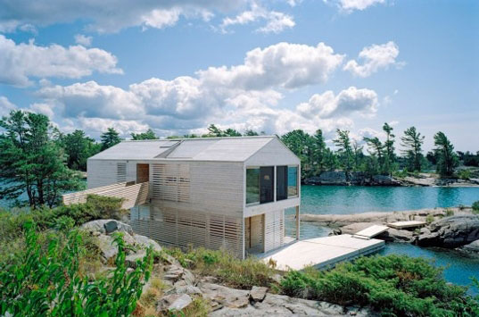 Beautiful Lake Huron Floating House by MOS