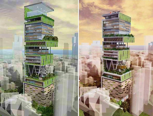 Perkins Will S Antilla Green Tower In Mumbai
