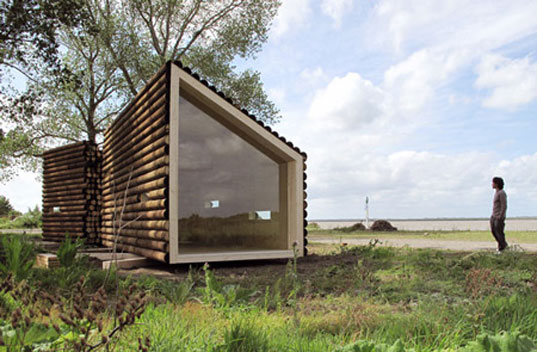 Olgga'S Portable Log Cabin Conceals A Sleek Modern Interior