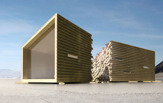 OLGGAu0027s Portable Log Cabin Conceals A Sleek Modern Interior. Architecture