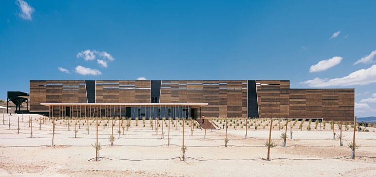 Eco olive oil factory by guillermo hevia architects for Modern factory building design
