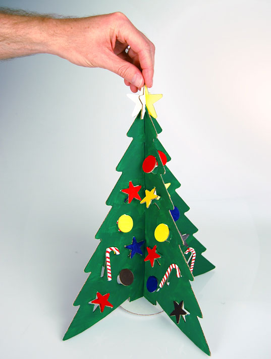 Tiny Tabletop Cardboard Christmas Tree From Cloudgate Design